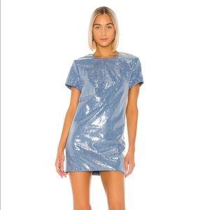 Lovers + Friends light blue dress - revolve